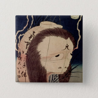 Japanese Ghost Pinback Button