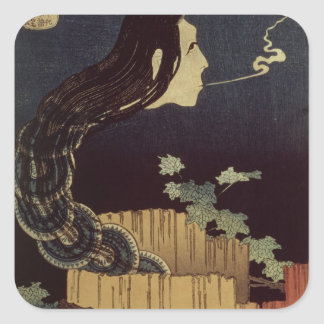 Japanese Ghost Square Sticker