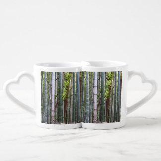 Japanese Giant Bamboo Forest, Sagano, Kyoto, Japan Couples Coffee Mug