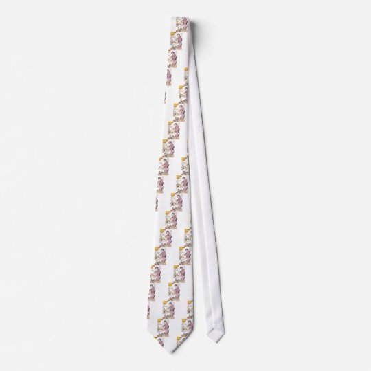 Japanese Girl and Dolls Neck Tie
