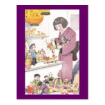 Japanese Girl and Dolls Postcard