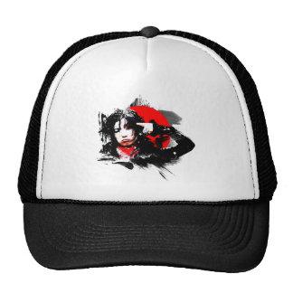 Japanese girl goth trucker hat