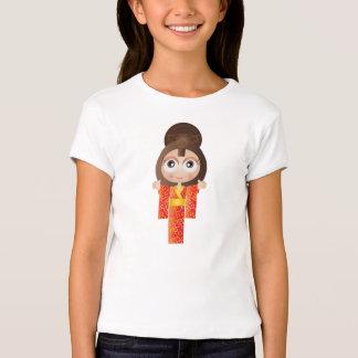 Japanese girl in traditional uniform illustration T-Shirt