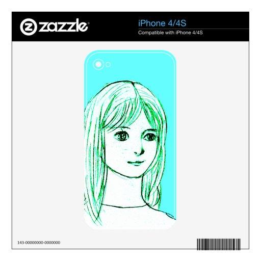 Japanese girl manga comics skins for the iPhone 4S
