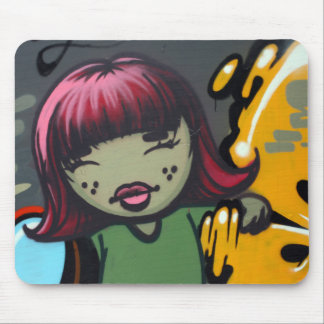 Japanese girl mouse pad