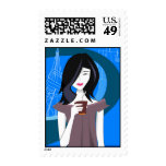 Japanese Girl Postage Stamps