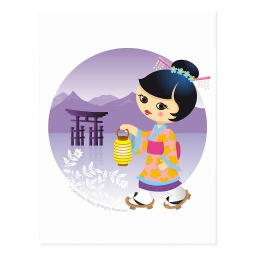 Japanese girl post cards