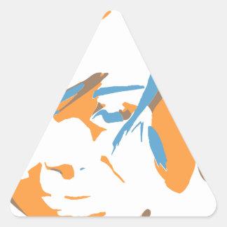 japanese girl triangle sticker