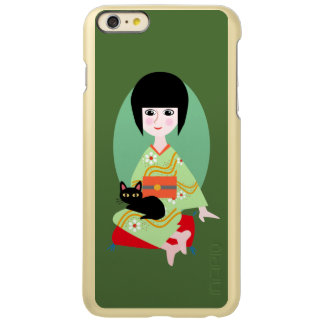 Japanese girl with a cat incipio feather® shine iPhone 6 plus case