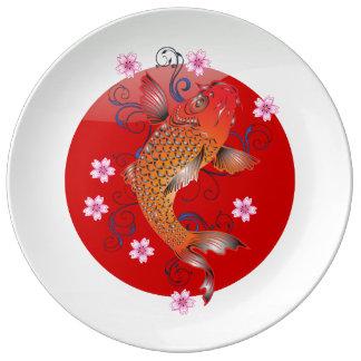 Japanese glossy flag porcelain plate