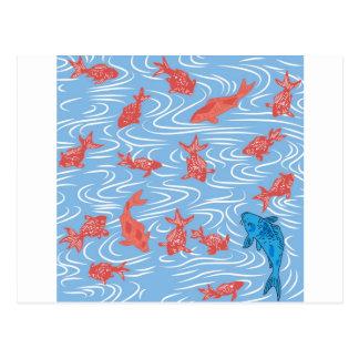 Japanese Goldfish and Carp Postcard