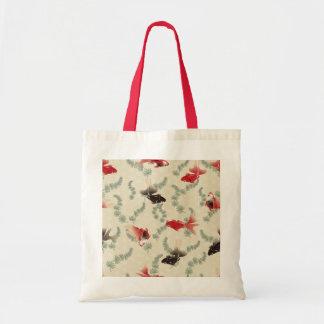 Japanese Goldfish Tote Bags