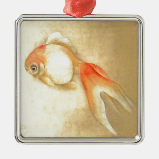 Japanese Goldfish Metal Ornament