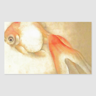 Japanese Goldfish Rectangular Sticker