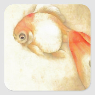 Japanese Goldfish Square Sticker