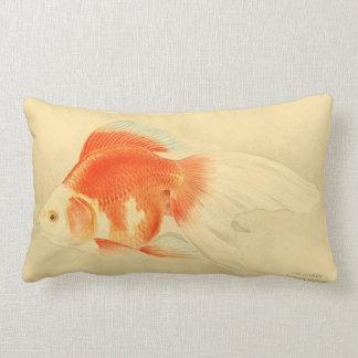 Japanese goldfish. The Ryukin. Lumbar Pillow