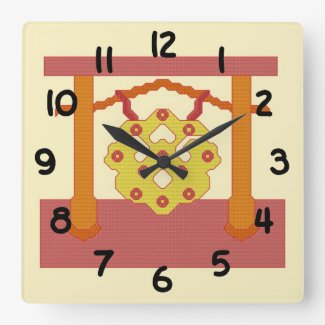 Japanese Gong Crest Clock