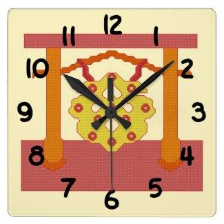 Japanese Gong Crest Clock