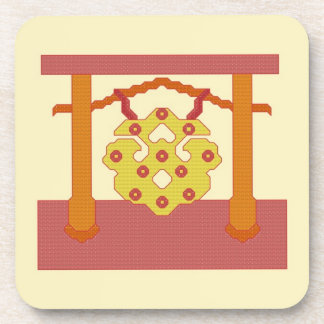 Japanese Gong Crest Coasters