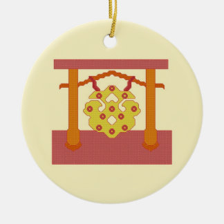 Japanese Gong Crest Ornament