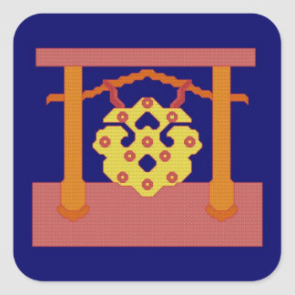 Japanese Gong Crest Stickers