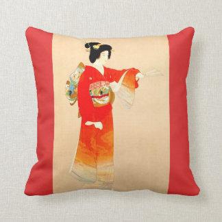 Japanese Government Railways Travel Poster Throw Pillow