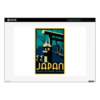 "Japanese Government Railways Vintage World Travel Decals For 15"" Laptops"