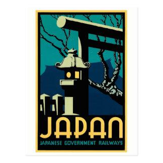 Japanese Government Railways Vintage World Travel Postcard
