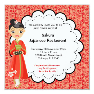 Japanese Grand Opening Card