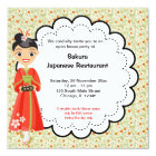 Japanese Grand Opening Restaurant Card