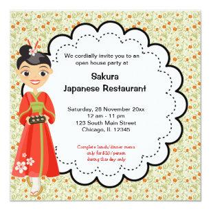 Restaurant opening invitations announcements zazzle japanese grand opening restaurant card stopboris Images