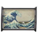 Japanese Great Wave off Kanagawa by Hokusai Serving Tray