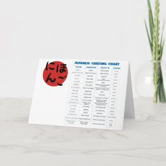 Japanese Greeting Chart Greeting Card