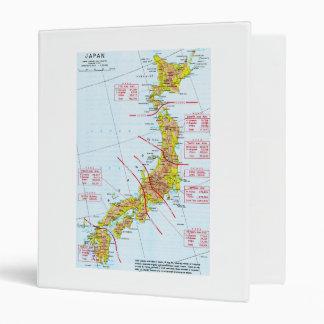 Japanese Ground Forces World War II Map in Japan Binder