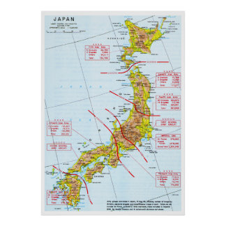 Japanese Ground Forces World War II Map in Japan Print