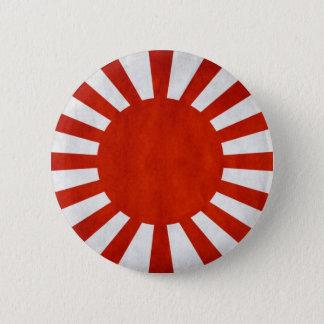 Japanese Grunge Flag Button