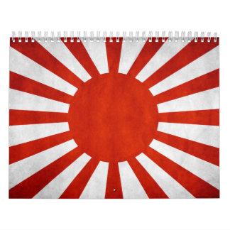 Japanese Grunge Flag Calendar