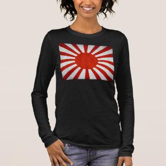 Japanese Grunge Flag Long Sleeve T-Shirt