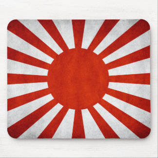 Japanese Grunge Flag Mouse Pad