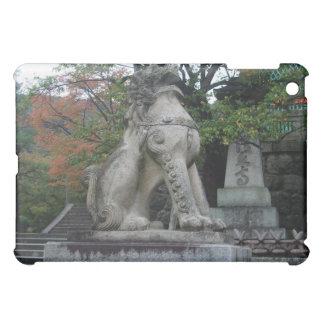 Japanese Guardian Lion Temple Statue iPad Case