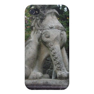 Japanese Guardian Lion Temple Statue iPhone 4 Case