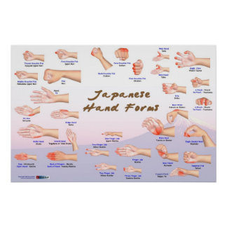 Japanese Hand Forms Poster