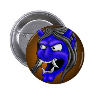 Japanese Hannya Mask Button