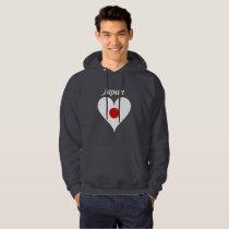 Japanese heart hoodie