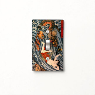 Japanese Heroine Princess Tamatori & Dragon King S Light Switch Cover