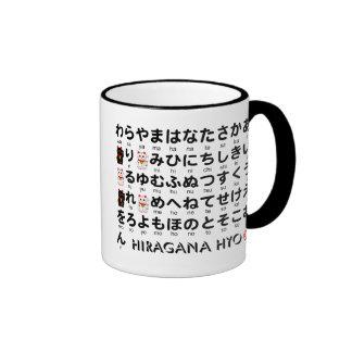 Japanese Hiragana & Katakana table(Alphabet) Ringer Coffee Mug