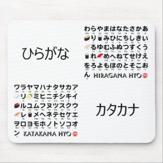 Japanese Hiragana & Katakana table (Sushi) Mouse Pad
