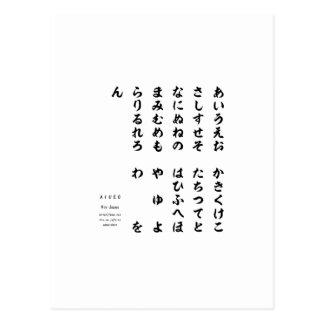 Japanese Hiragana Language Printed Goods-hiragana Postcard