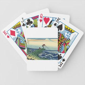 Japanese Hokusai Fuji View Landscape Bicycle Playing Cards