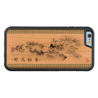 Japanese horse art sumi equestrian carved® cherry iPhone 6 bumper case